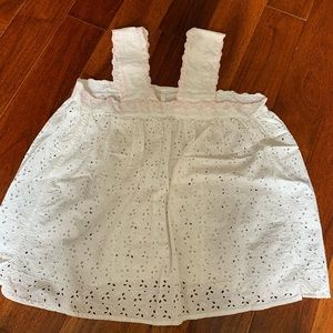 Cotton eyelet top from France